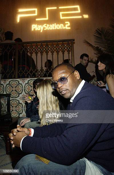 Andre Harrell during PlayStation 2 Pre-Grammy Party Hosted by Pharrell at The Spider Room in Hollywood, California, United States.