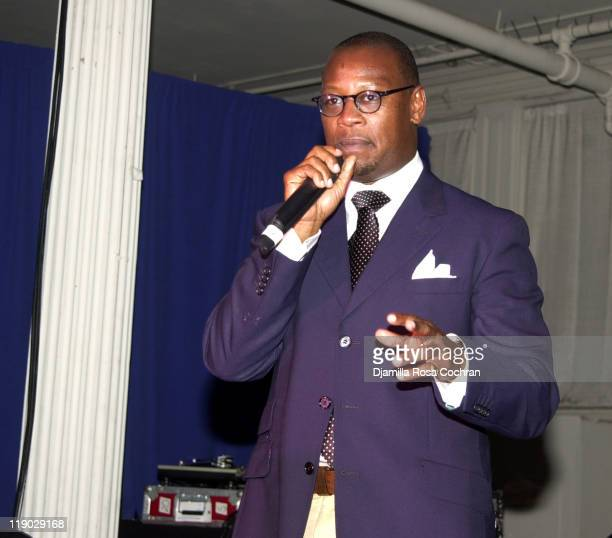 Andre Harrell during Sean P Diddy Combs Runs the City PreMarathon Dinner at Metropolitan Pavilion in New York City New York United States