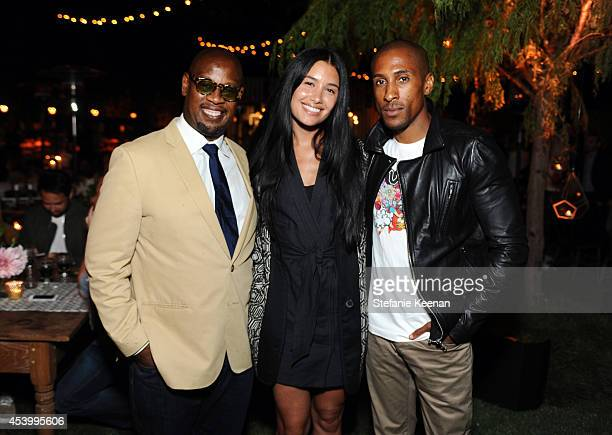 Andre Harrell Jamie Baratta and Larry Jackson attends GENETIC x Liberty Ross Launch on August 22 2014 in Beverly Hills California