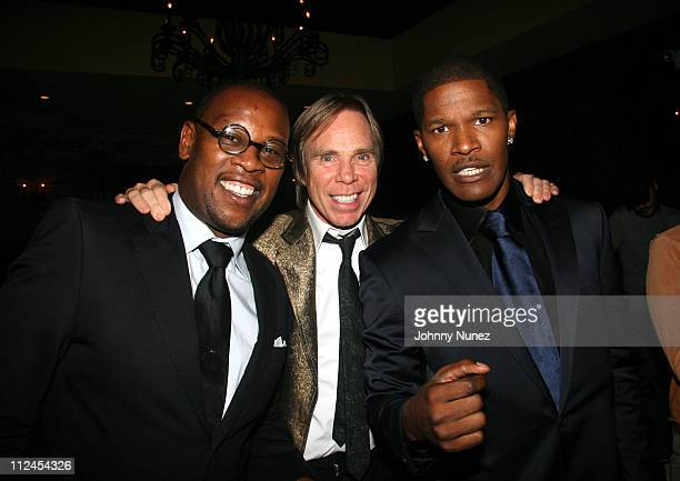 Andre Harrell Tommy Hilfiger and Jamie Fox during Jamie Foxx Hosts Marcus King's Birthday Party September 7 2006 at Gin Lane in New York New York...