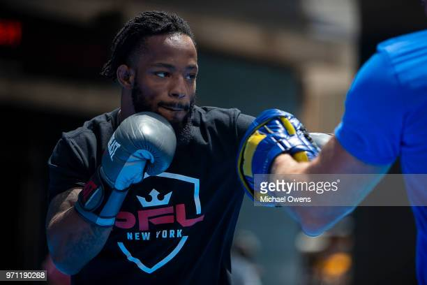 Andre Harrison during the open workout for PFL 1 at Madison Square Garden on June 5, 2018 in New York City.