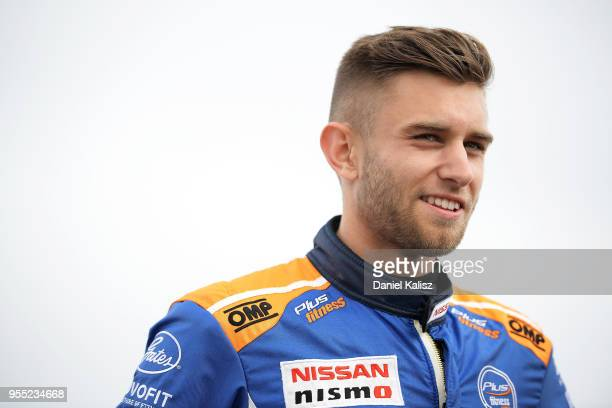 Andre Heimgartner driver of the Nissan Motorsport Nissan Altima looks on during the Supercars Perth SuperSprint at Barbagello Raceway on May 6 2018...