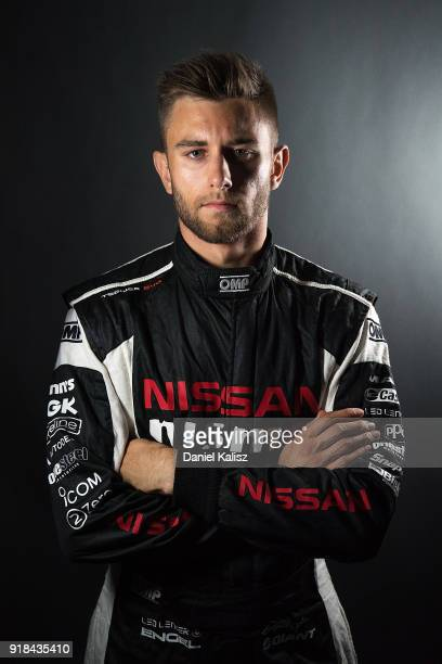 Andre Heimgartner driver of the Nissan Motorsport Nissan Altima poses during the 2018 Supercars Media Day at Fox Studios on February 15 2018 in...