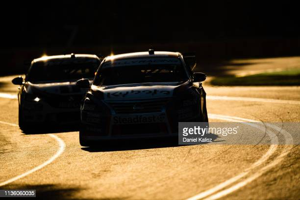 Andre Heimgartner drives the Nissan Motorsport Nissan Altima during the Melbourne 400 Supercars Championship Round at the Albert Park Circuit on...
