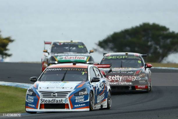 Andre Heimgartner drives the Nissan Motorsport Nissan Altima during race nine at the Phillip Island 500 as part of the Supercars Championship season...