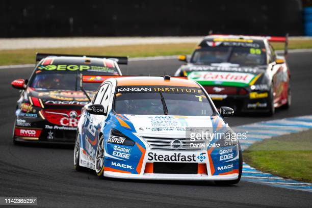 Andre Heimgartner drives the Nissan Motorsport Nissan Altima during the Phillip Island 500 as part of the Supercars Championship season at Phillip...