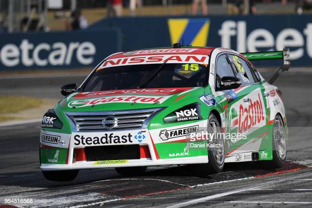 Andre Heimgartner drives the Nissan Motorsport Nissan Altima during the Supercars Perth SuperSprint at Barbagello Raceway on May 4 2018 in Perth...