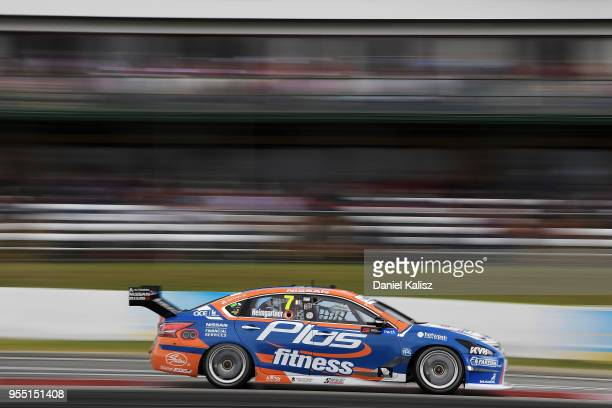 Andre Heimgartner drives the Nissan Motorsport Nissan Altima during qualifying for race 12 for the Supercars Perth SuperSprint at Barbagello Raceway...