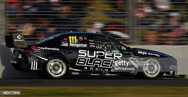 Andre Heimgartner drives the Super Black Racing Ford during race 17 of the Townsville 400 at Reid Park on July 12 2015 in Townsville Australia