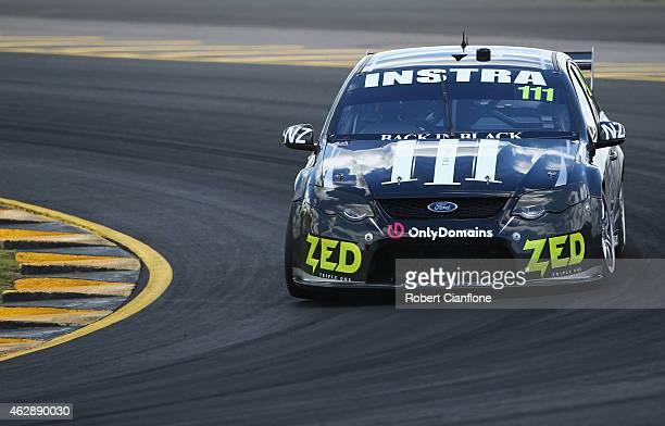Andre Heimgartner drives the Super Black Racing Ford during the 2015 V8 Supercars SuperTest at Sydney Motorsport Park on February 7 2015 in Sydney...