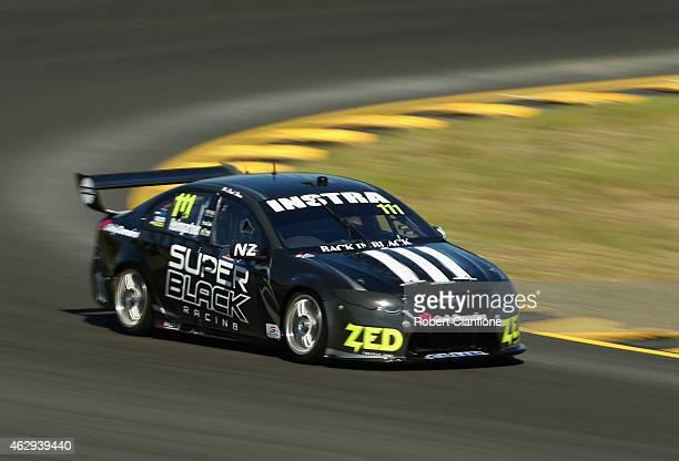 Andre Heimgartner drives the Super Black Racing Ford during the 2015 V8 Supercars SuperTest at Sydney Motorsport Park on February 8 2015 in Sydney...