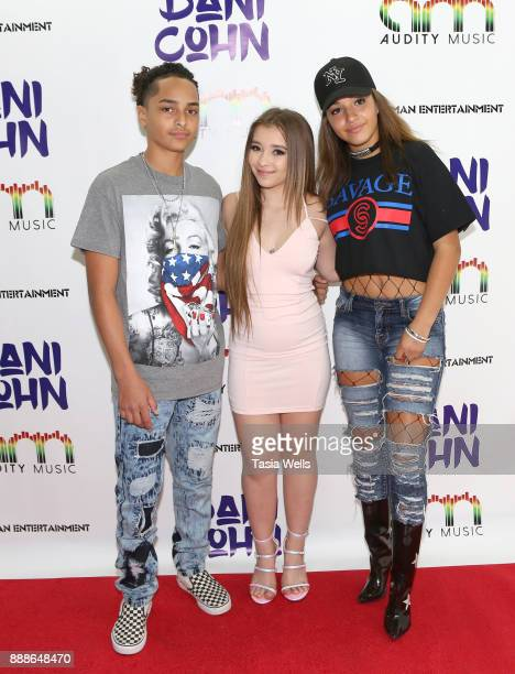 Andre Hill Dani Cohn and Alectra Cox at Dani Cohn's Single Release Party for #FixYourHeart on December 8 2017 in Burbank California