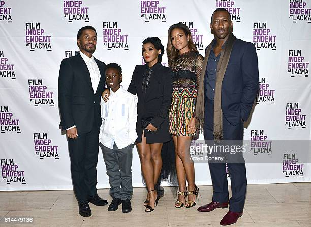 Andre Holland Alex Hibbert Janelle Monae Naomie Harris and Mahershala Ali attend the Film Independent at LACMA screening and QA of Moonlight at LACMA...