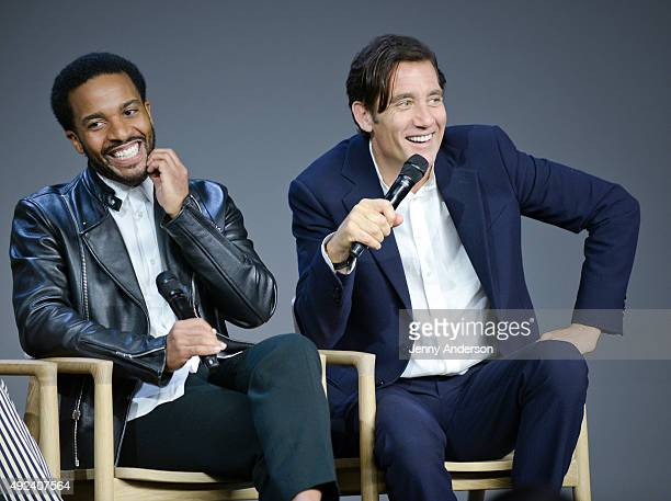 Andre Holland and Clive Owen attend 'Meet the Actors' to discuss the new season of 'The Knick' at Apple Store Soho on October 12 2015 in New York City