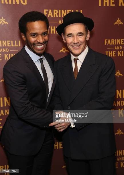 Andre Holland and Mark Rylance attend the Broadway opening night performance After Party for 'Farinelli and the King' at The Belasco Theatre on...