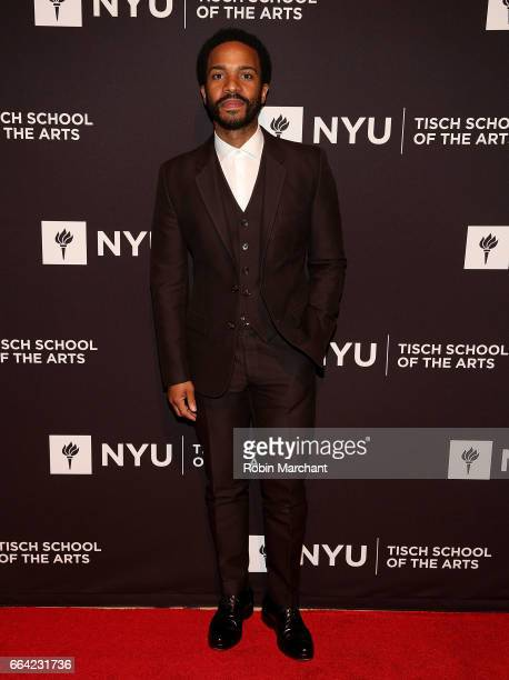 Andre Holland attends NYU Tisch School of the Arts' 2017 Gala at Cipriani 42nd Street on April 3 2017 in New York City