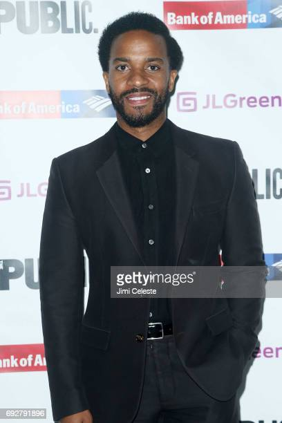 Andre Holland attends the 2017 Public Theater Gala at Delacorte Theater on June 5 2017 in New York City