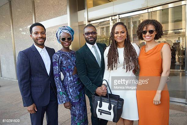 Andre Holland Lupita Nyong'o David Oyelowo Ava Duvernay and Gugu MbathaRaw attends the opening of the National Museum of African American History and...