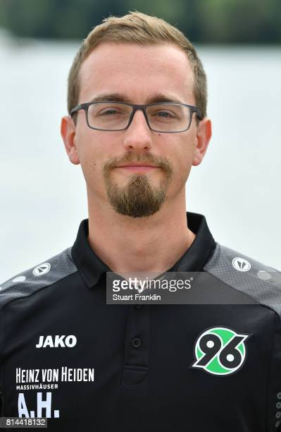 Andre Horn physiotherapist of Hannover 96 poses during the team presentation at on July 14 2017 in Hanover Germany