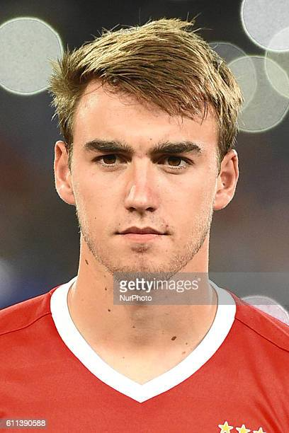 Andre Horta of SI Benfica during the UEFA Champions League match between SSC Napoli and Sl Benfica at Stadio San Paolo Naples Italy on 28 September...