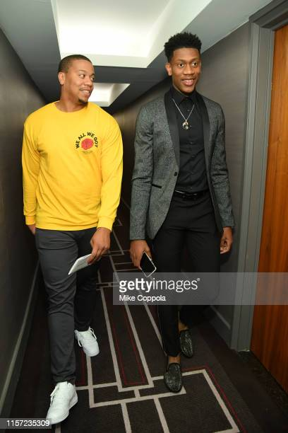 Andre Hunter and College Basketball Player/Draft Prospect De'Andre Hunter prepare for the 2019 NBA Draft on June 20 2019 in New York City