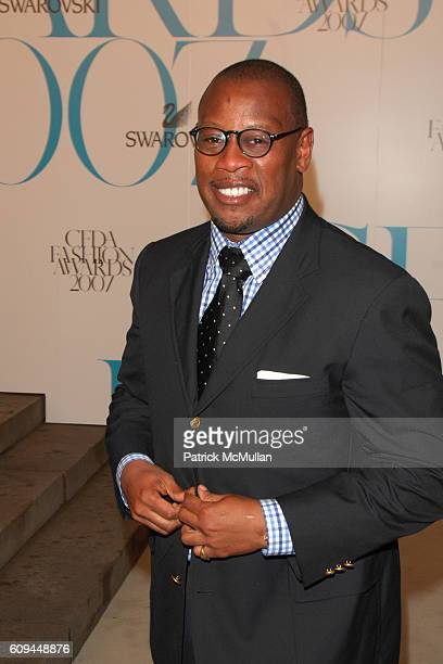 Andre Hurrell attends The 2007 CFDA Fashion Awards Red Carpet Arrivals at The New York Public Library on June 4 2007 in New York City