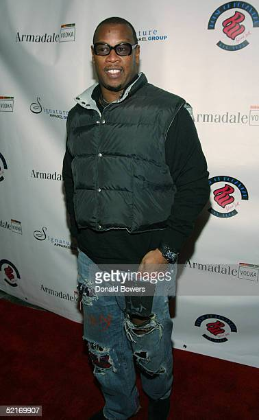 Andre Hurrell attends the Launch of Patricia Field for the House of Rocawear party during Olympus Fashion Week February 9 2005 in New York City