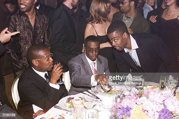 Andre Hurrell Sean P Diddy Combs and Chris Rock at the 27th Annual Clive Davis PreGrammy party at the Beverly Hills Hotel in Los Angeles Ca 2/26/02...