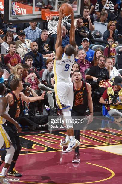 OH Andre Iguodala of the Golden State Warriors drives to the basket during the game against the Cleveland Cavaliers in Game Four of the 2018 NBA...