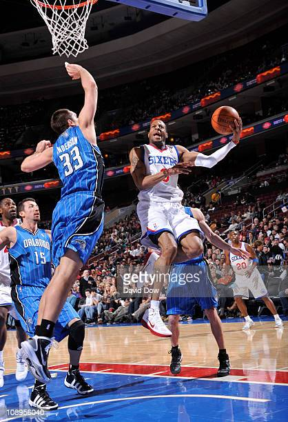 Andre Iguodala of the Philadelphia 76ers shoots against Ryan Anderson of  the Orlando Magic during the f039c93ad