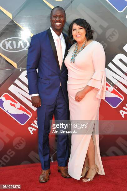 Andre Ingram and his wife attend the 2018 NBA Awards Show at Barker Hangar on June 25 2018 in Santa Monica California