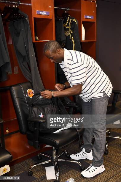 Andre Ingram of the Los Angeles Lakers after the game against the Houston Rockets on April 10 2017 at STAPLES Center in Los Angeles California NOTE...