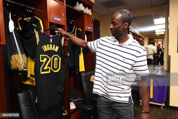 Andre Ingram of the Los Angeles Lakers before the game against the Houston Rockets on April 10 2017 at STAPLES Center in Los Angeles California NOTE...