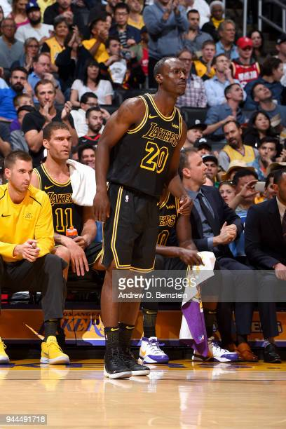 Andre Ingram of the Los Angeles Lakers during the game against the Houston Rockets on April 10 2017 at STAPLES Center in Los Angeles California NOTE...