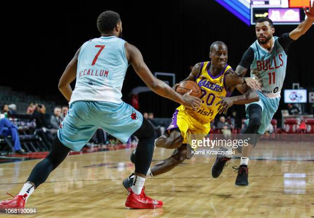 Andre Ingram of the South Bay Lakers drives to the basket against the Windy City Bulls during the NBA GLeague on December 3 2018 at Sears Centre...