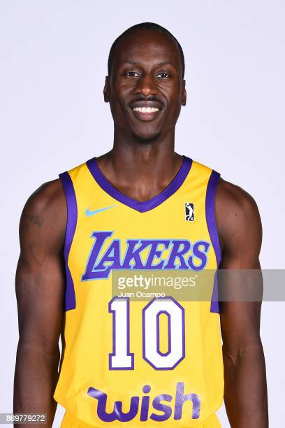 Andre Ingram of the South Bay Lakers poses for a head shot during the NBA GLeague media day on November 2 2017 at the UCLA Health Training Center in...