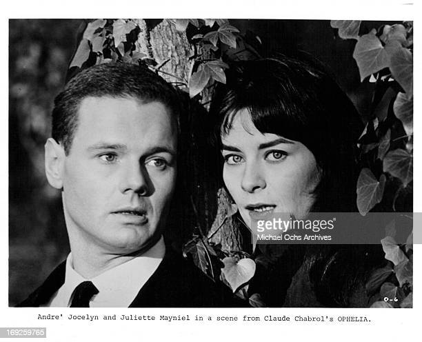 Andre Jocelyn and Juliette Mayniel in a scene from the film 'Ophelia' 1963