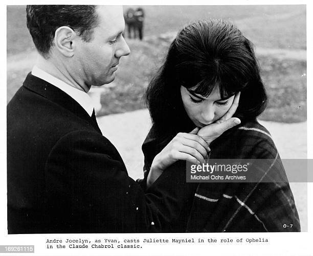 Andre Jocelyn comforts Juliette Mayniel in a scene from the film 'Ophelia' 1963