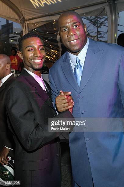 Andre Johnson and Earvin 'Magic' Johnson during Lincoln Luxury Event with Earvin 'Magic' Johnson and New Edition at Compound in Atlanta Georgia...