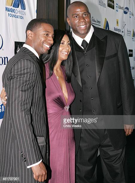 Andre Johnson Cookie Johnson and Earvin Magic Johnson