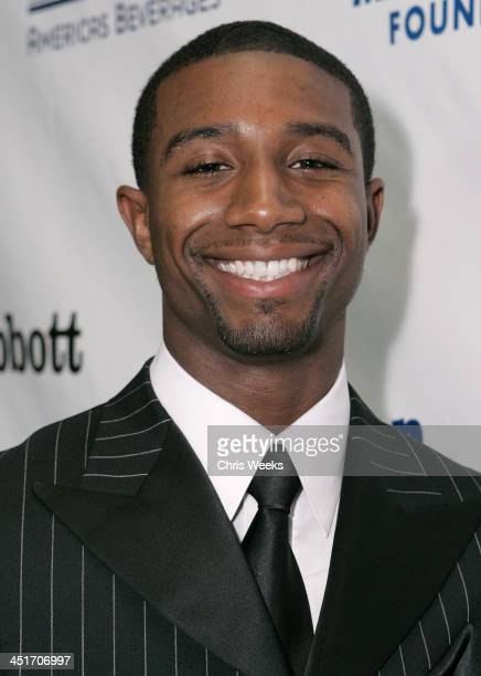 Andre Johnson during Magic Evolution An Evening Honoring Earvin Magic Johnson Red Carpet at Beverly Hilton in Beverly Hills California United States