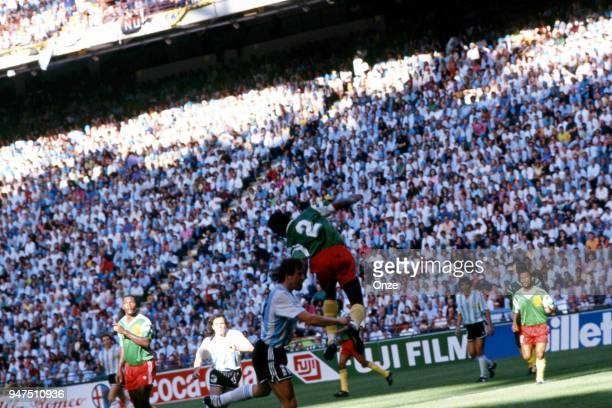 Andre Kana Biyik during the opening match of the 1990 World Cup between Cameroon and Argentina at Stade Giuseppe Meazza Milano Italy on June 08th 1990