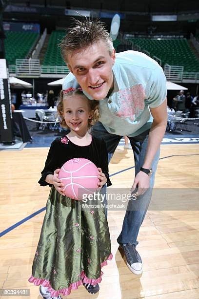 Andre Kirilenko of the Utah Jazz poses for a photograph during the annual charity event the Leapin Leaners at EnergySolutions Arena on March 26 2008...