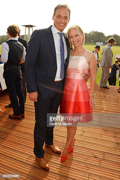 Andre Konsbruck Director of Audi UK and Christine Sieg attend day one of the Audi Polo Challenge at Coworth Park on May 28 2016 in London England