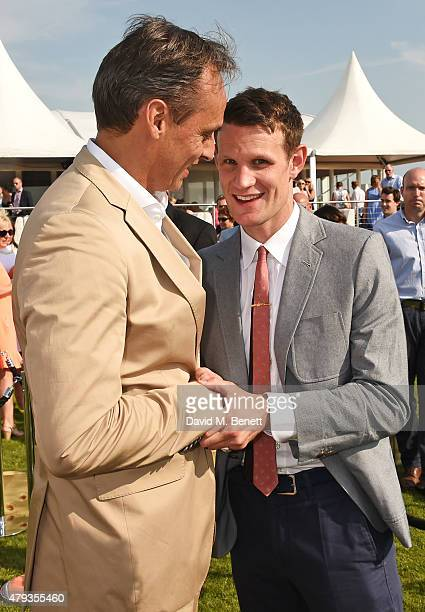Andre Konsbruck Director of Audi UK and Matt Smith attend the Audi Polo Challenge 2015 at Cambridge County Polo Club on July 3 2015 in Cambridge...