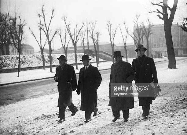 Andre Le Troquer Lawyer Of Leon Blum On His Way To The Law Courts At The Time Of The Lawsuit Of Riom In 1942