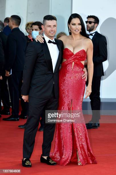 """Andre Lemmers and Adriana Lima attend the red carpet of the movie """"Madres Paralelas"""" during the 78th Venice International Film Festival on September..."""