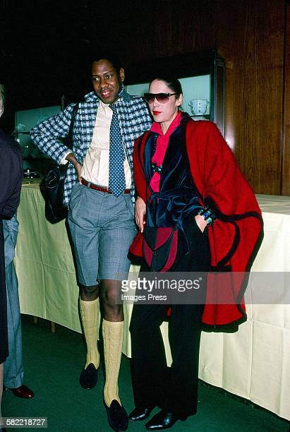 Andre Leon Talley and Marina Schiano circa 1980 in New York City
