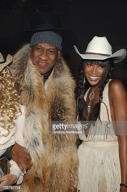 Andre Leon Talley and Naomi Campbell during Marc Jacobs Christmas Party December 13 2005 at Skylight Studios in New York City New York United States