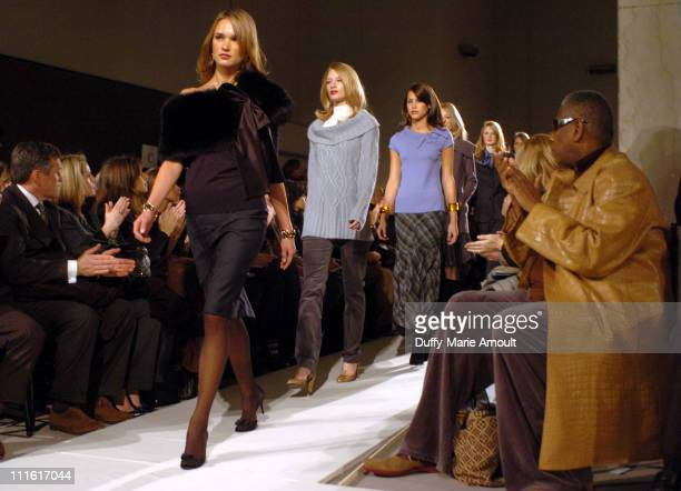 Andre Leon Talley at Dana Buchman Fall 2006 during Olympus Fashion Week Fall 2006 Dana Buchman Front Row and Backstage at 1441 Broadway Show Room in...